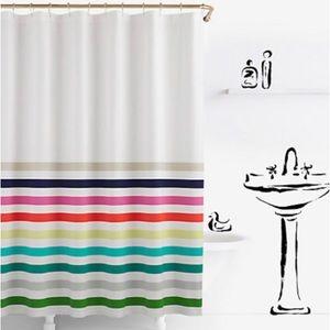 🆕 Kate Spade ♠️ Candy Stripe Shower Curtain NWT